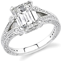 Stardust 1.05ct Pave Split Shank Engagement Ring