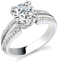 Stardust .35ct Pave Split Shank Engagement Ring
