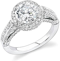 Stardust .95ct Micro Pave Bezel Set Diamond Engagement Ring