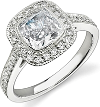 Stardust Bezel Set Diamond Engagement Ring .47cttw