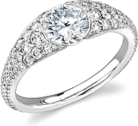Stardust Bezel Set Diamond Engagement Ring