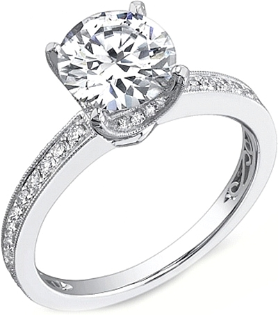 ctw princess in engagement band diamond vintage milgrain set shadow ring me cut platinum channel rings