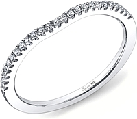 Sylvie Contoured Diamond Wedding Band