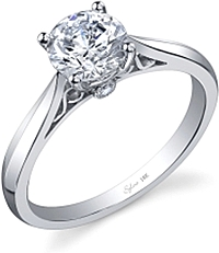Sylvie Knife Edge Diamond Engagement Ring