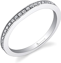 Sylvie Pave Diamond Wedding Band