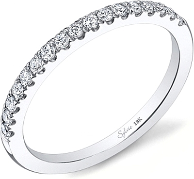 diamond products bands gold wedding white french band platinum jewelers mullen pave