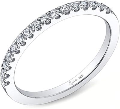 Sylvie Round Brilliant Cut Diamond Wedding Band SY172B