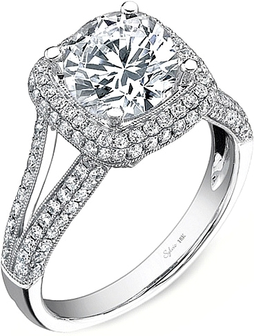wide pave engagement no split ring shank center rings diamond