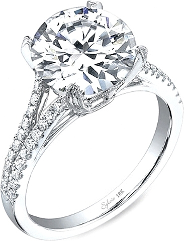 Engagement ring diamond  Sylvie Split Shank Diamond Engagement Ring SY098