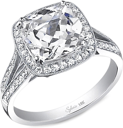 setting rings split engagement halo diamond ring round shank