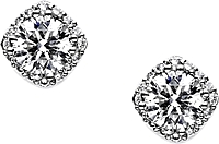 Tacori 1.00ct tw GIA H/SI2 Diamond Blooming Stud Earrings