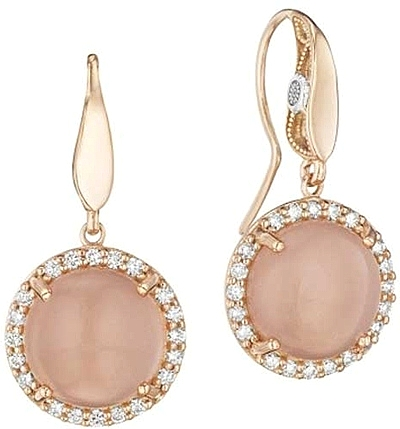 rose leaf earring rhinestone crystal long chandelier gold pink nlcac pendant peach earrings p s