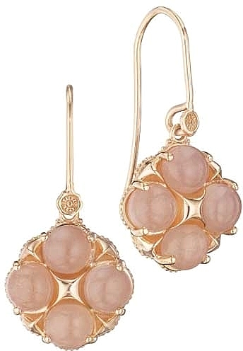 Tacori 18k Rose Gold Peach Moonstone Earrings Se187p36