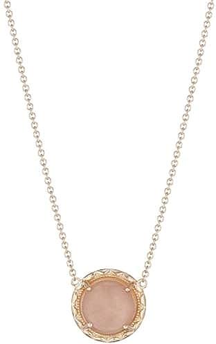 Tacori 18K Rose Gold Peach Moonstone Necklace SN179P36