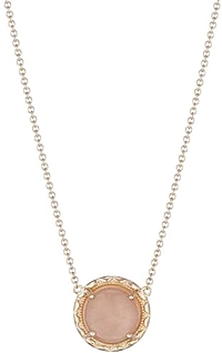 Tacori 18K Rose Gold Peach Moonstone Necklace