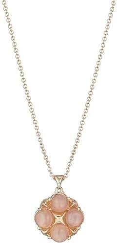 Tacori 18k Rose Gold Peach Moonstone Necklace Sn185p36