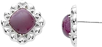Tacori 18k925 African Ruby Earrings