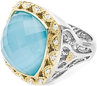 Tacori 18K925 Barbados Blue Cocktail Ring