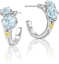 Tacori 18k925 Blue Topaz Earrings