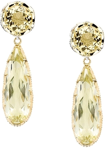 rectangle gold citrine lemon earrings peridot p ippolita rock mu cut prod candy
