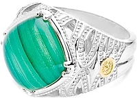Tacori 18k925 Green Malachite Ring