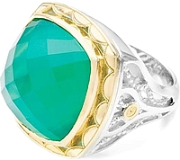 Tacori 18k925 Green Onyx Ring