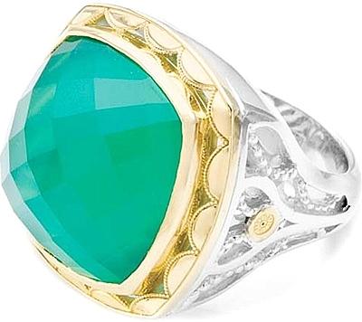 Tacori 18k925 Green Onyx Ring SR117Y27