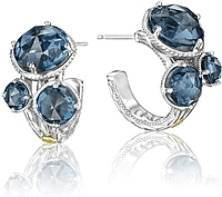 Tacori 18k925 London Blue Topaz Earrings
