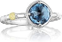 Tacori 18k925 London Blue Topaz Ring