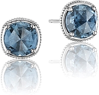 Tacori 18k925 London Blue Topaz Stud Earrings