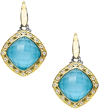 Tacori 18K925 Neolite Turquoise & Diamond Earrings