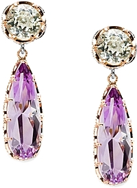 Tacori 18K925 Prasiolite & Amethyst Earrings