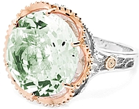 Tacori 18k925 Prasiolite Cocktail Ring