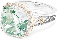 Tacori 18k925 Prasiolite Diamond Ring