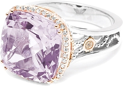tacori 18k925 purple amethyst diamond ring sr100p01 - Purple Wedding Ring