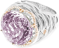 Tacori 18k925 Purple Amethyst Diamond Ring