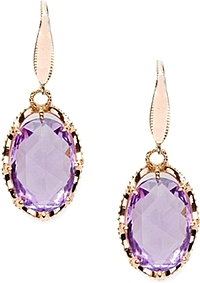 Tacori 18K925 Rose Amethyst Drop Earrings