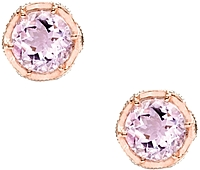 Tacori 18K925 Rose Amethyst Earrings