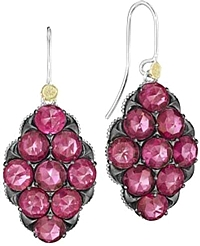 Tacori 18K925 Ruby Red Quartz Earrings