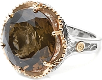 Tacori 18k925 Smokey Quartz Cocktail Ring