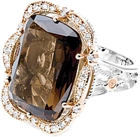 Tacori 18k925 Smoky Quartz Diamond Ring