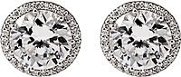 Tacori 1ct tw GIA H/SI2 Diamond Halo Stud Earrings