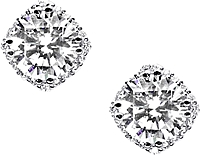 Tacori 2.00ct tw GIA H/SI2 Diamond Blooming Stud Earrings
