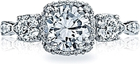 Tacori 3 Stone Twist Diamond Engagement Ring