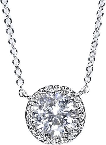 Tacori 60ct Tw Gia G Si1 Diamond Halo Pendant Fp67055 A