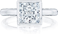 Tacori Bezel Set Princess Cut Diamond Engagement Ring