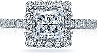 Tacori Blooming Princess Cut Halo Diamond Engagement Ring