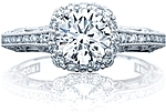 This image shows the ring with a 1.00ct round brilliant cut center diamond but can be ordered to accommodate any shape or size diamond listed below.