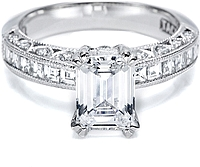 Tacori Channel-Set and Pave Diamond Engagement Ring