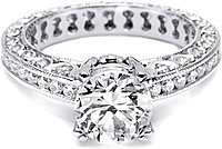 Tacori Channel-Set & Pave Diamond Engagement Ring